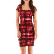 Bailey Blue Short-Sleeve Print Midi Dress