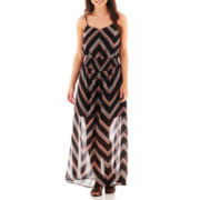 Fire Sleeveless Smocked Maxi Dress