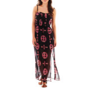 Heart & Soul® Sleeveless Aztec Print Maxi Dress