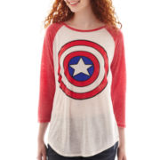 3/4-Sleeve Captain America Raglan Tee