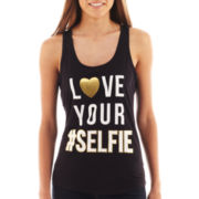 Fifth Sun Love Your Selfie Graphic Tank Top