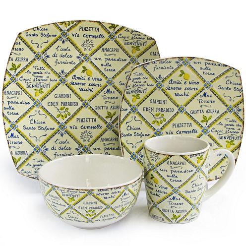 Piastrelle Italian Style 16-pc. Dinnerware Set