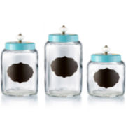 American Atelier Style Setter 3-pc. Glass Canister Set