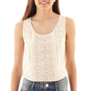 Arizona Cropped Lace-Inset Tank Top