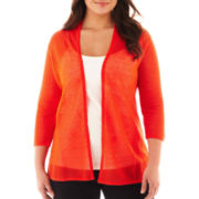 Worthington® Open-Front Cardigan Sweater - Plus