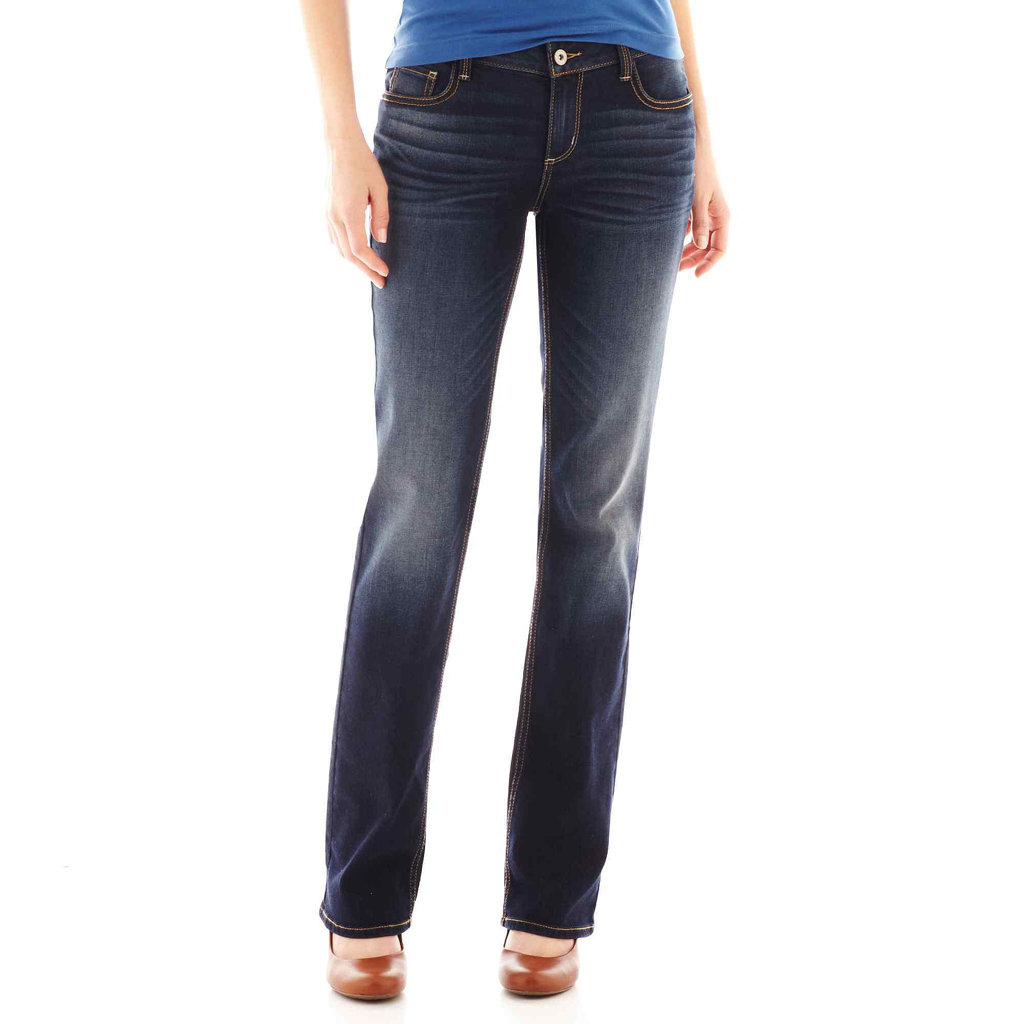Arizona Curvy Bootcut Jeans - Juniors