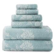 Liz Claiborne® 6-pc. Floral Bath Towel Set