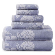 Liz Claiborne® 6-pc. Floral Bath Towel Set