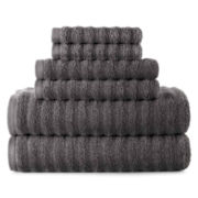 Studio™ Quick-Dri™ 6-pc. Ribbed Bath Towel Set