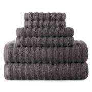Studio™ Quick-Dri™ 6-pc. Ribbed Bath Towel Set