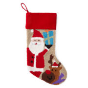 North Pole Trading Co. Monogrammable Needlepoint Santa Stocking