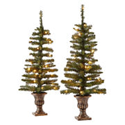 Set of 2 3.5ft Topiary Trees