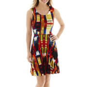 a.n.a® Sleeveless Print Fit-and-Flare Dress