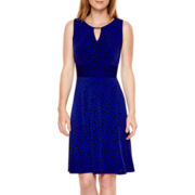 Liz Claiborne® Sleeveless Keyhole Fit-and-Flare Dress