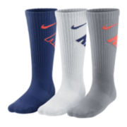 Nike® 3pk. Graphic Crew Socks