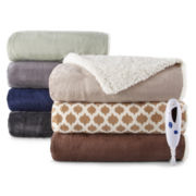 Biddeford™ Faux Micro Mink Sherpa Heated Throw