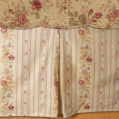 greenland home fashions antique rose bedskirt - Greenland Home Fashions
