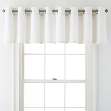 Window Treatment jcpenney valances window treatments : JCPenney Home™ Pembroke Grommet-Top Tailored Valance - JCPenney