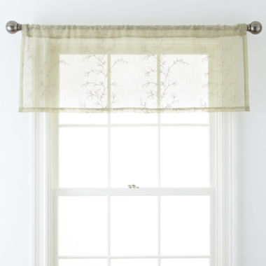 jcpenney.com | JCPenney Home™ Ingals Rod-Pocket Sheer Tailored Valance