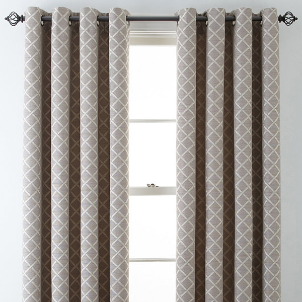 Jcpenney Home Store Locator: JCPenney Home Quinn Lattice Grommet Top Curtain Panel JCPenney