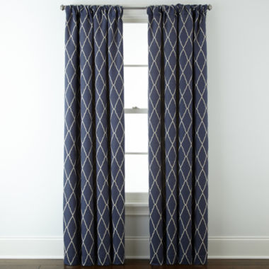 jcpenney.com | JCPenney Home™ Hamilton Rod-Pocket/Back-Tab Curtain Panel
