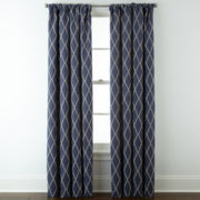 JCPenney Home™Hamilton Rod-Pocket/Back-Tab Curtain Panel