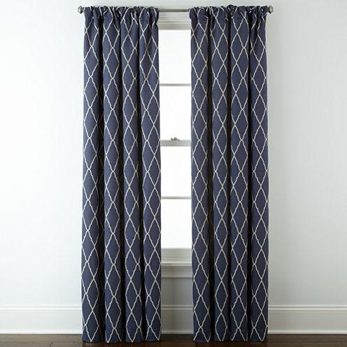 JCPenney Home™ Hamilton Rod-Pocket/Back-Tab Curtain Panel