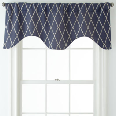 jcpenney home™ hamilton rod-pocket/back-tab curtain panel - jcpenney