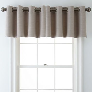 Window Treatment jcpenney valances window treatments : JCPenney Home™ Quinn Grommet-Top Insert Valance - JCPenney