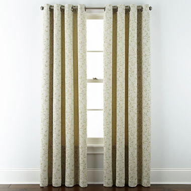 Curtains Ideas curtains jcpenney home collection : JCPenney Home™ Anza Grommet-Top Curtain Panel - JCPenney