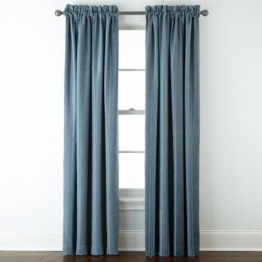 jcpenney.com | Royal Velvet® Kendall Stripe Blackout Rod-Pocket Curtain Panel