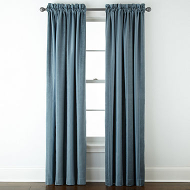 Royal Velvet Kendall Stripe Blackout Rod Pocket Curtain Panel Jcpenney