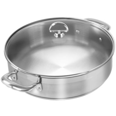 jcpenney.com | Chantal® Induction 21 Steel™ 5-qt. Sauteuse Pan with Glass Lid