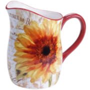 Certified International Paris Sunflower Pitcher