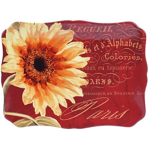 Certified International Paris Sunflower Rectangular Platter