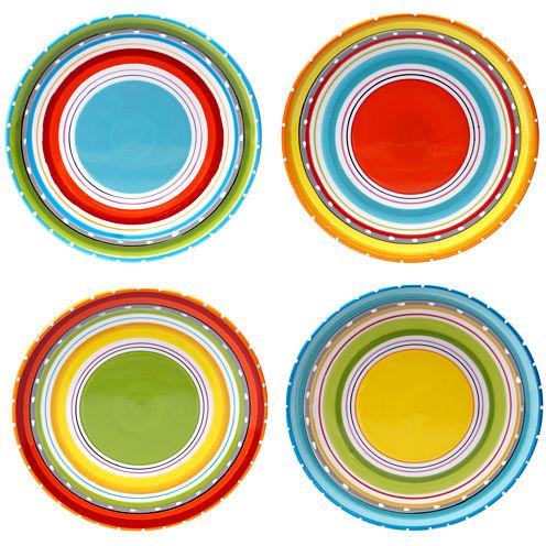 Certified International Mariachi Set of 4 Salad Plates