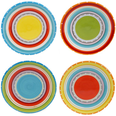 jcpenney.com | Certified International Mariachi Set of 4 Canapé Plates