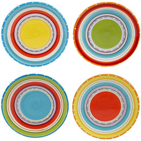 Certified International Mariachi Set of 4 Canapé Plates