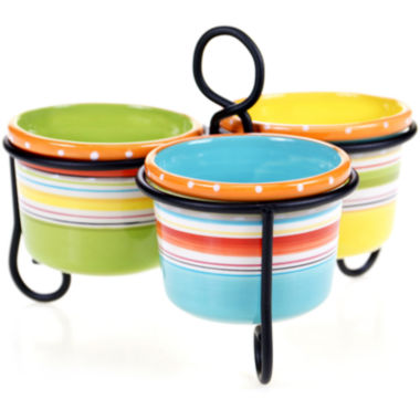 jcpenney.com | Certified International Mariachi 3-Bowl Server with Metal Stand