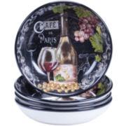 Certified International Grand Vin Set of 4 Pasta Bowls