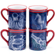 Certified International Pier 45 Set of 4 Mugs