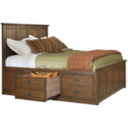 Oak Ridge 9-Drawer Storage Bed