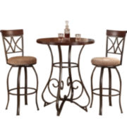 Glenside 3-pc. Pub Set with Swivel Barstools