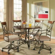 Glenside 5-pc. Dining Set with Swivel Chairs