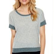 a.n.a® Short-Sleeve Rib-Trim T-Shirt