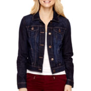 a.n.a® Long-Sleeve Denim Jacket- Petites