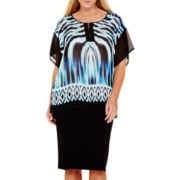 Bisou Bisou® Colorblock Tunic Top or Jersey Knit Tube Skirt - Plus