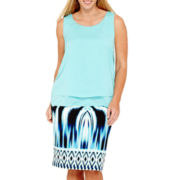 Bisou Bisou® Tiered Top or Scuba Pencil Skirt with Center-Back Seam - Plus