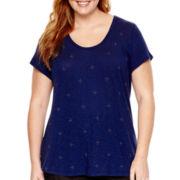 Liz Claiborne® Short-Sleeve Embellished T-Shirt - Plus