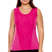 Worthington® Lace-Blocked Tank Top - Plus